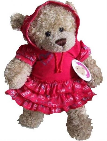 Red BFF Hooded frilled Dress